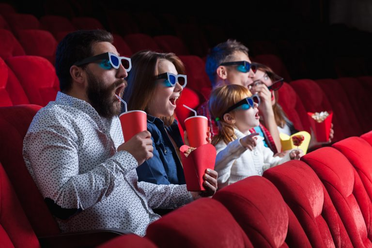 The people's emotions in the cinema